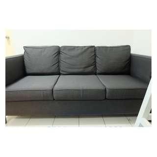 Gray Microfiber 3 Seater Sofa Home Furniture