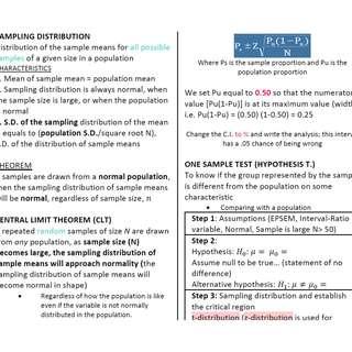 HS3002 Social Statistics Cheatsheet