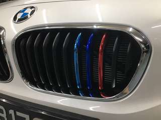 BMW grill stripe