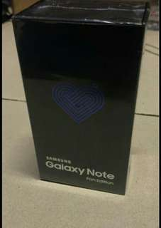 Samsung Galaxy Note FE. 64gb ram 4gb. Warna Black onyx Bnib. SEIN