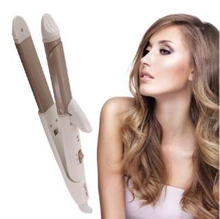 2 in 1 hair straightener and curling iron
