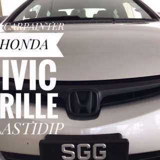 Honda Civic Grille Plastidip Service Plasti Dip