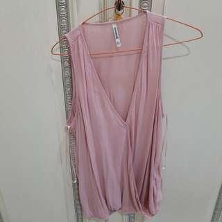 Blouse wanita pink blush