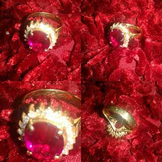 Cincin emas lady die plus berlian banjar