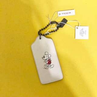 Coach X Disney限量米奇聯名吊牌吊飾鑰匙圈