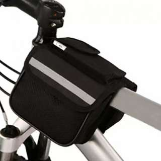 Bike Small Tube Bag Frame Double Saddle Pack Phone Pouch Holder Cycling