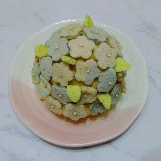 繡球花戚風蛋糕 hydrangea chiffon cake