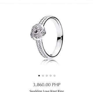 Pandora Love Knot Ring (Size 48)