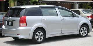 Toyota wish  registered with Grab. Available for rent