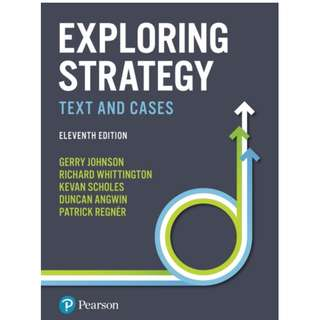 Exploring Strategy Text and Cases 11th Edition