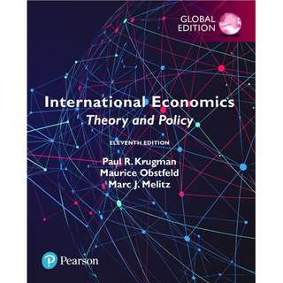 International Economics Theory and Policy Global Edition 11th Edition