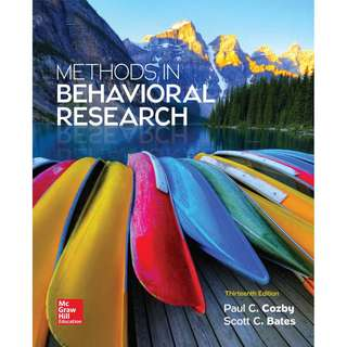 Methods in Behavioral Research 13th Edition
