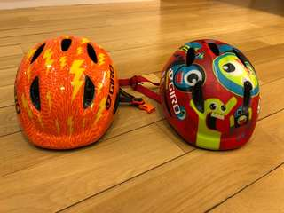 2x Giro Scamp kids bike helmet