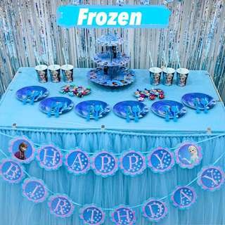 ❄️ Frozen party supplies / party deco