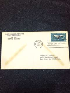 US 1965 United Nations FDC stamp