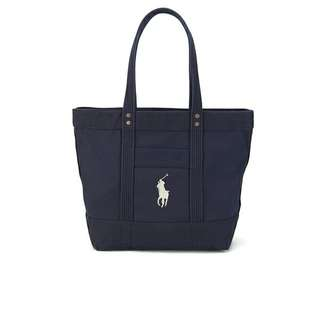 Ralph Lauren Polo Large Pony Canvas Tote in Navy