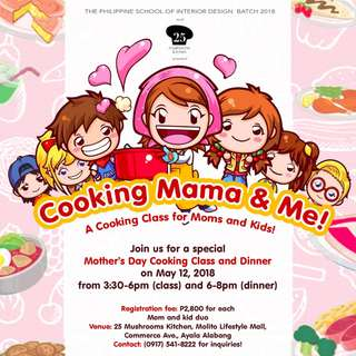 Cooking Mama and Me for Mother's Day