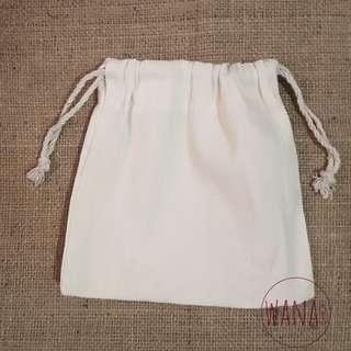 Katsa/ Katcha/ Canvas String Bag/ Pouch