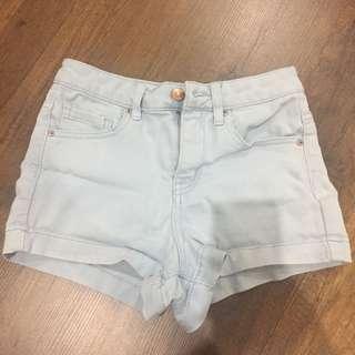 F21 Baby Blue Highwaisted Shorts