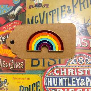 A different shade of rainbow enamel pin