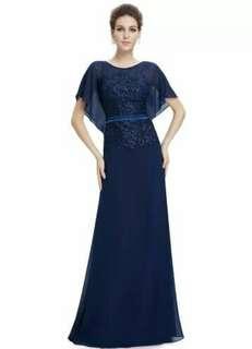 Small size Women sleeve Dinner Dress