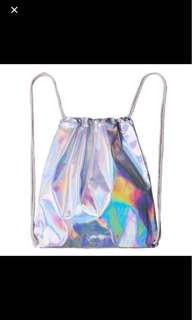Holographic Drawstring Bag
