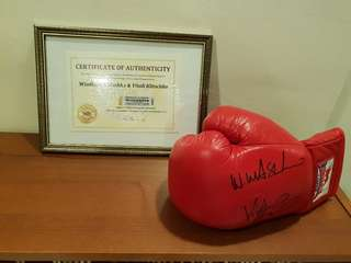 Genuine certified hand signed signature of two World Champions Wladimir Klitschko & Vitali Klitschko