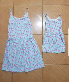 Flamingo dress M&D
