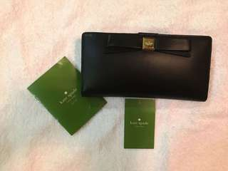 Pre-loved authentic Kate Spade black leather wallet