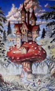 00152 Mushroom Castle Fantasy Heaven and Earth Design