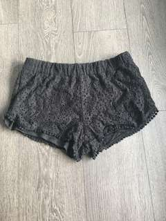 Forever 21 Black Lace Shorts Size M