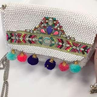 Accessories Handbag 手工釘珠手袋