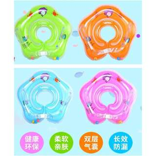 Baby Newborn Safety Float Ring Neck Bath Inflatable Swimming