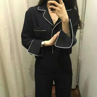 Korean Blouse In Black