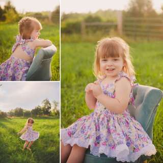 Toddler Kids Baby Girls Dress Floral Party Dresses Flower Sundress Outfits 1-5T