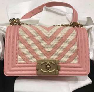 Fire Sale🔥New Pink Chanel Boy Ghw Small