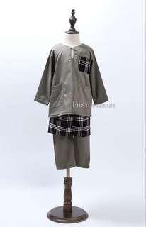Baju Melayu grey