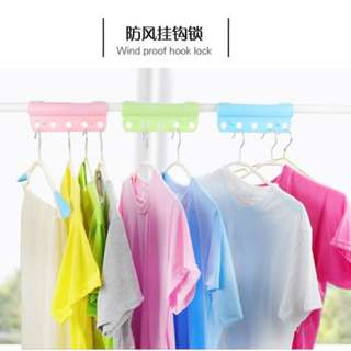 Clothes Pole - 5 hole windproof buckle hanger lock