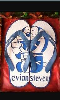 Sandal ukir doraemon