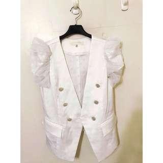 🚚 專櫃品牌 春夏的 網紗外套唷 配無袖 超級好看 或是細肩帶也可以唷 非常好看 SM都可😄