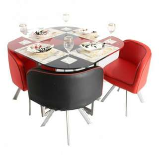 Two Tone Space Saver Dining Set