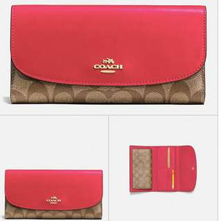 Coach Signature Logo Wallet