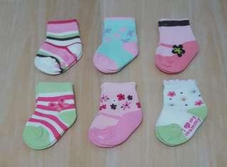 6 pasang Carter baby sock/ Kaos Kaki Bayi Carter/ Kaos Kaki Korea