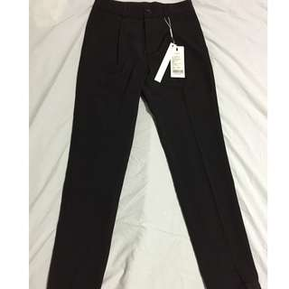 women's office wear, business attire, black long pants, new