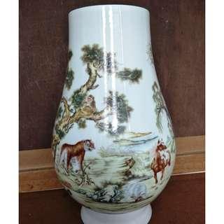 12 zodiac vase Jingdezhen , 景德镇十二生肖花瓶