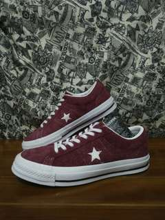 Converse One Star Ox Suede Maroon