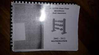 CIE P1, P6, P3 Past Years & Mark Scheme