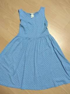 H&M Cotton Blue Dress