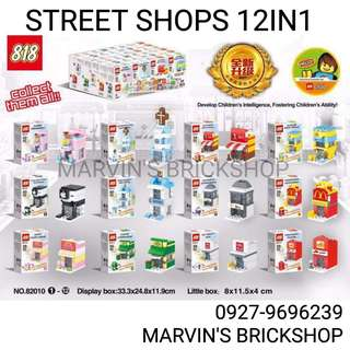 Latest 12in1 Street Shops Building Block Toys