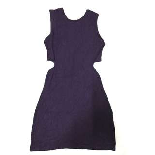 Deep Purple Cut-Out Dress